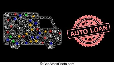 prêt voiture, timbre, lumière, détresse, réfrigérateur, taches, maille, auto