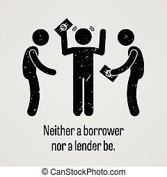 prêteur, être, neither, ni, emprunteur