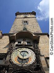 prague, tour, horloge