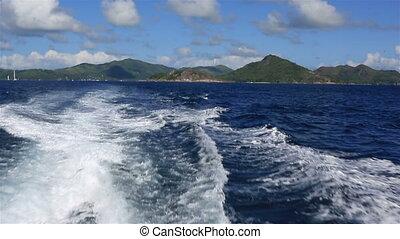 praslin, île, indien, ocean.