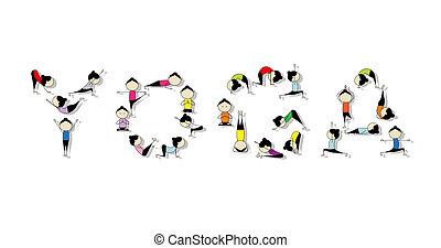 pratique, conception, concept, yoga, ton