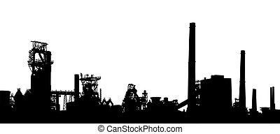 premier plan, industriel