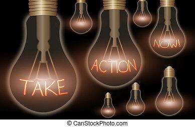 prendre, besoin, business, mot, texte, maintenant, immédiatement, concept, il, action, écriture, quelque chose, now., être, fait, réponse, urgently.