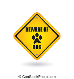 prendre garde, chien, signe