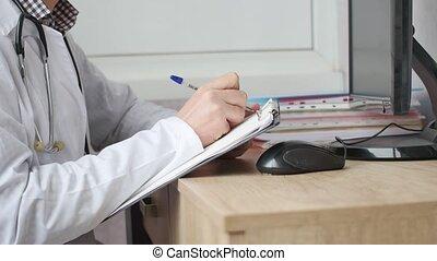 prescription écriture, professionnel, docteur, rx, monde médical, presse-papiers
