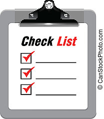 presse-papiers, liste, chèque