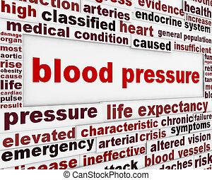 pression, message, avertissement, sanguine, fond