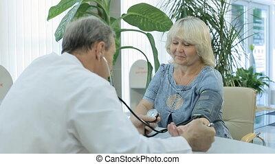 pression, mesures, patient, docteur
