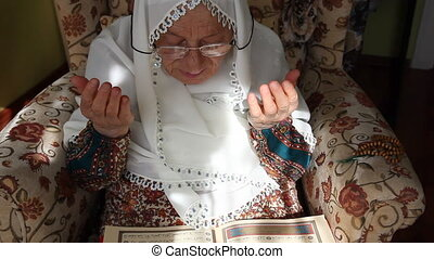 prier, femme, musulman