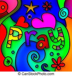 prier, verre, taché
