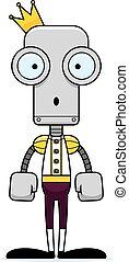 prince, robot, surpris, dessin animé