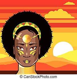 princesse, africaine