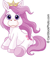 princesse, cheval, mignon