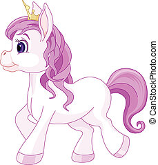 princesse, mignon, promenade cheval