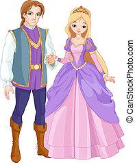 princesse, prince, beau