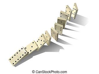 principle., domino, vecteur, illustration