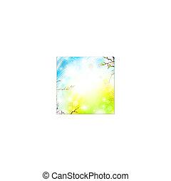 printemps, clair, fond
