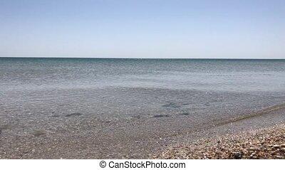printemps, clair, vue mer, jour, surface