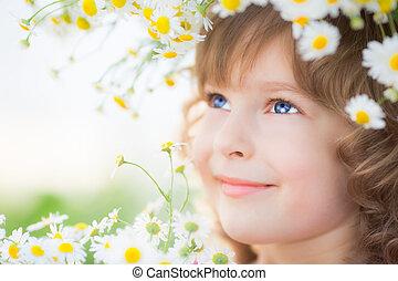 printemps, enfant
