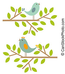 printemps, oiseaux