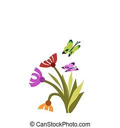 printemps, papillons, fleur, -1, fleur