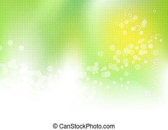printemps, résumé, arrière-plan vert