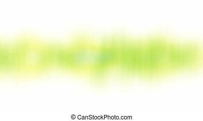 printemps, résumé, shapes., arrière-plan vert, en mouvement