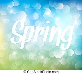 printemps, résumé, vecteur, fond