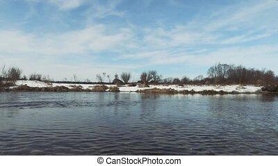 printemps, rivière, saison