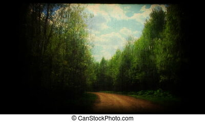 printemps, road., pays