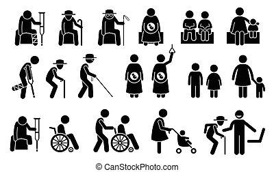 priorité, need., sièges, seatings, gens
