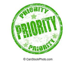 priorité, timbre