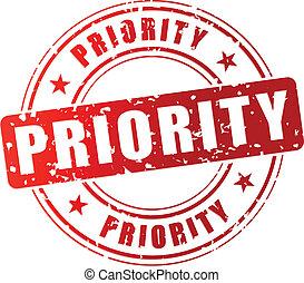 priorité, timbre, vecteur