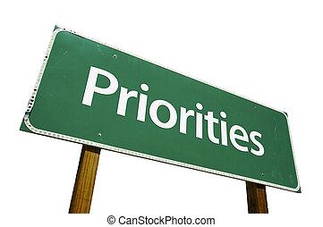 priorities, panneaux signalisations