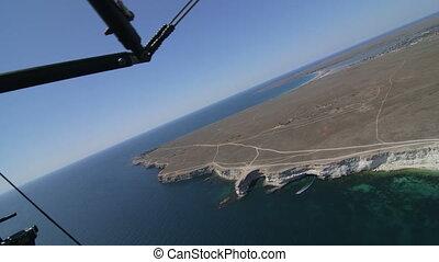 prise vue aérienne, rivage