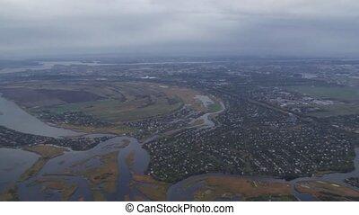 prise vue aérienne, village