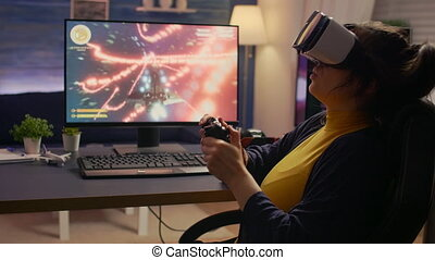 pro, ligne, vidéo, gamer, tournoi, cyber, perdre, jeu