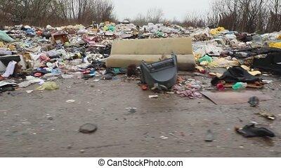problème, déchets, illégal