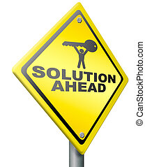 problème résout, solution, devant