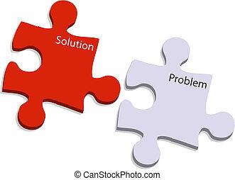 problème, solution, puzzle