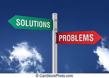 problèmes, solutions, panneaux signalisations