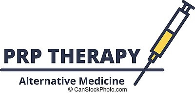 procédure, concept., arrière-plan., seringue, soin, médecine, prp, logo, cosmétologie, alternative, blanc, thérapie, facial