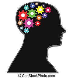 processus, cerveau, engrenages