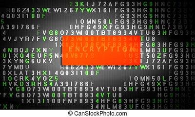 processus, chiffrement, écran, données, tablette