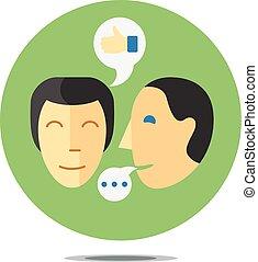 processus, communication, concept