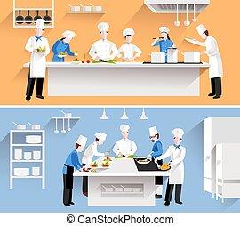 processus, cuisine, illustration