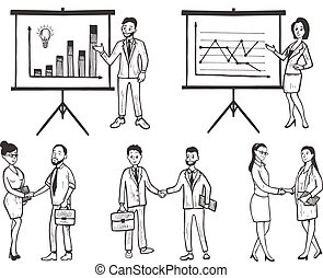 processus, gestion, business, flot travail