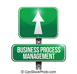 processus, gestion, illustration affaires, signe