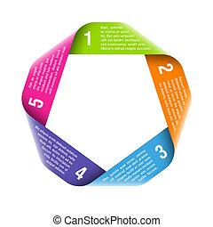 processus, origami, elemen, conception, cycle