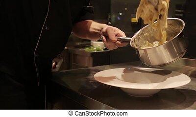 processus, pâtes, cuisine